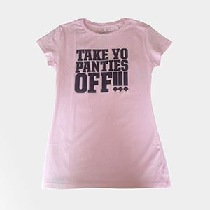 Black on Pink - Ladies Tee